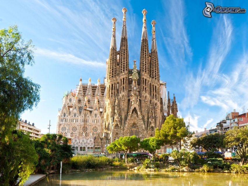 Sagrada Familia, Barcellona, Spagna, HDR
