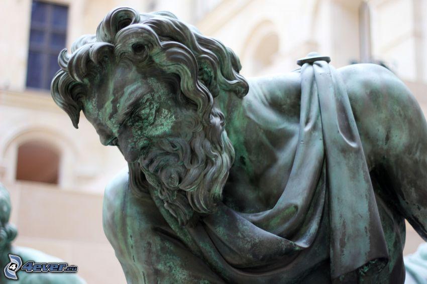 statua, Louvre, Francia