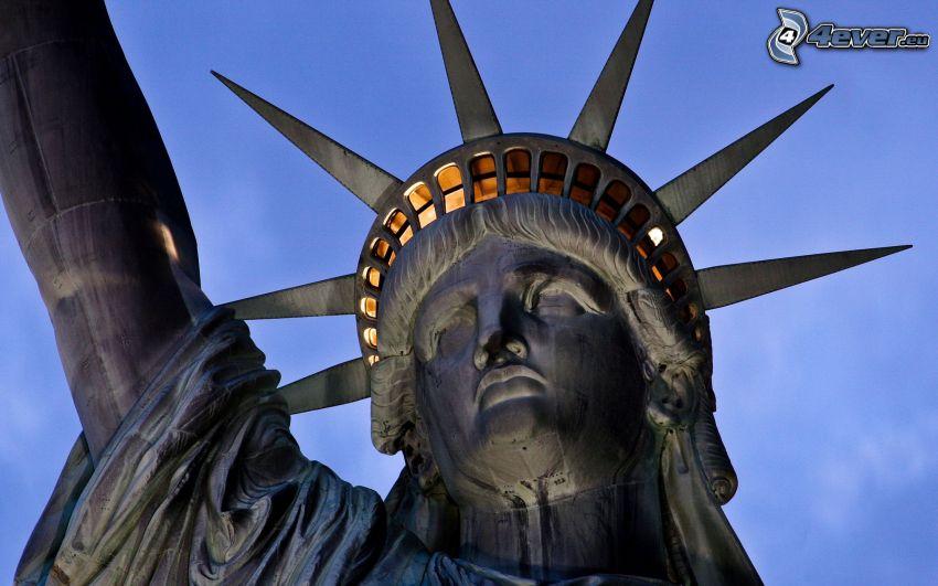 Statua della Libertà, testa, New York, USA