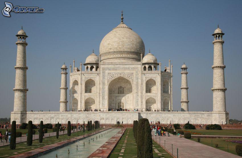 Taj Mahal, alberi, parco