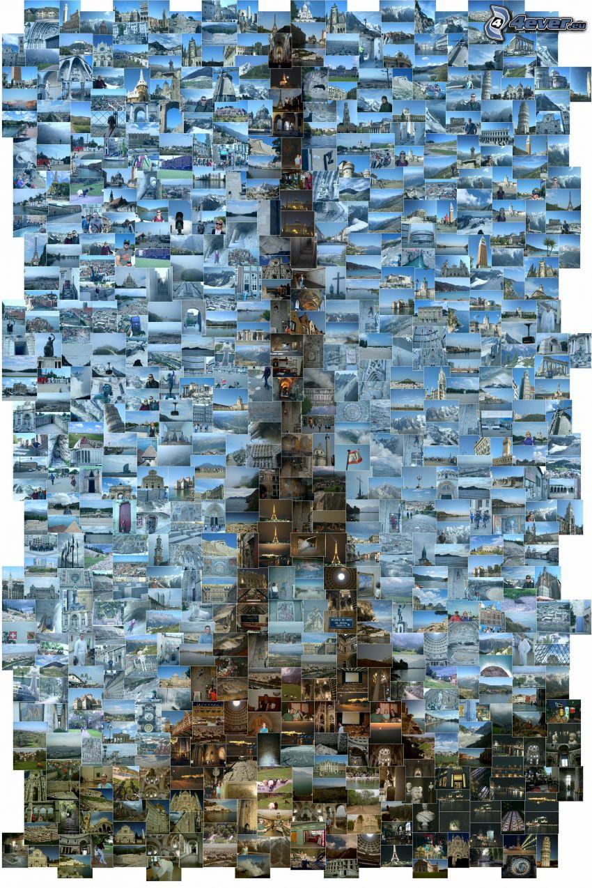 Torre Eiffel, mosaico