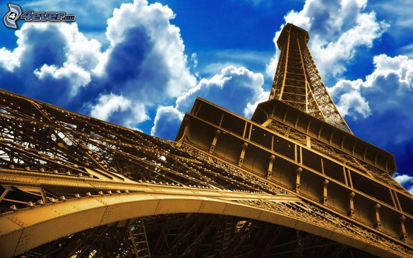 Torre Eiffel, nuvole