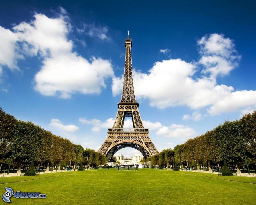Torre Eiffel, parco
