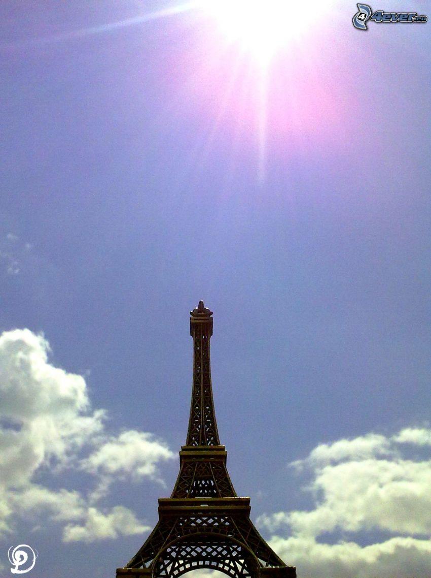 Torre Eiffel, sole, cielo