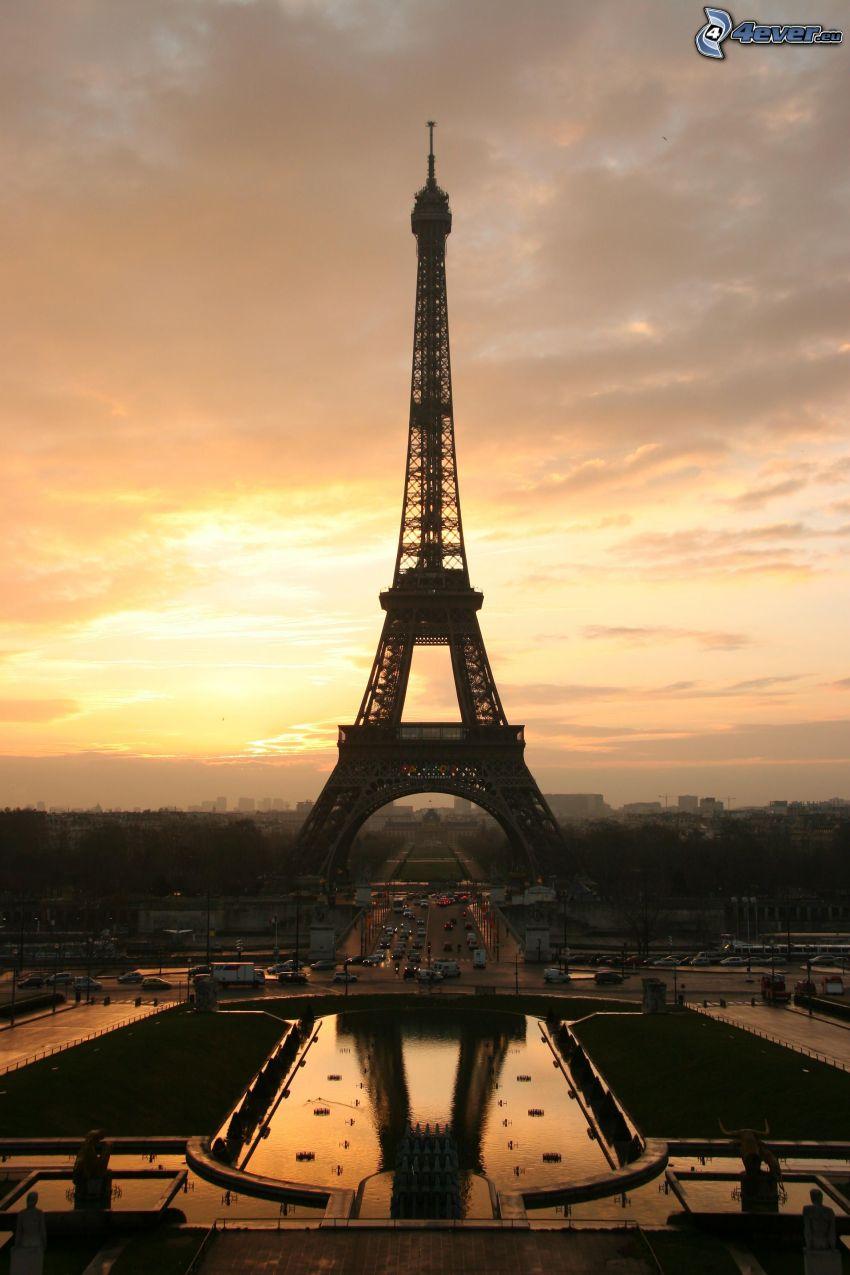 Torre Eiffel, tramonto