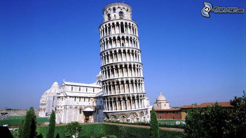 Torre pendente di Pisa, Battistero a Pisa