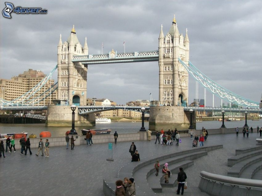 Tower Bridge, Londra, Inghilterra, Tamigi