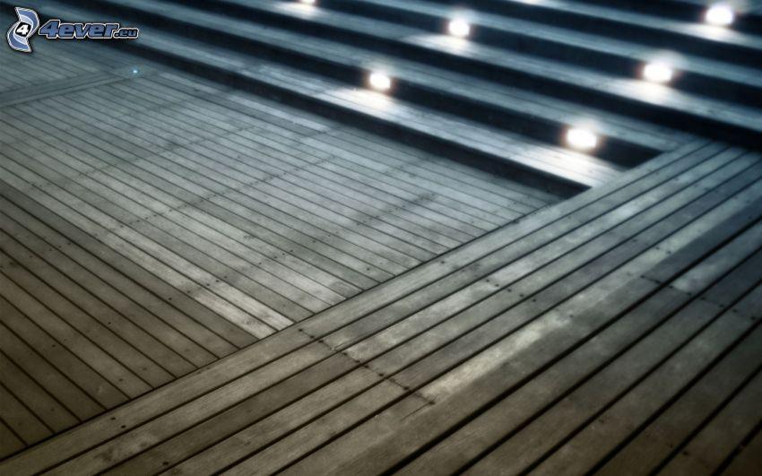 tavole, luci, scale