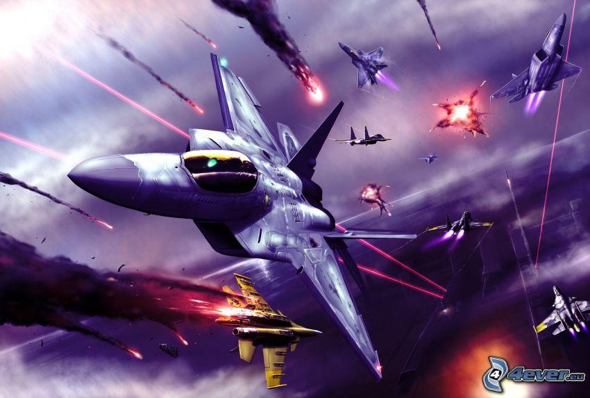 Ace Combat Infinity, aerei da caccia, F-22 Raptor