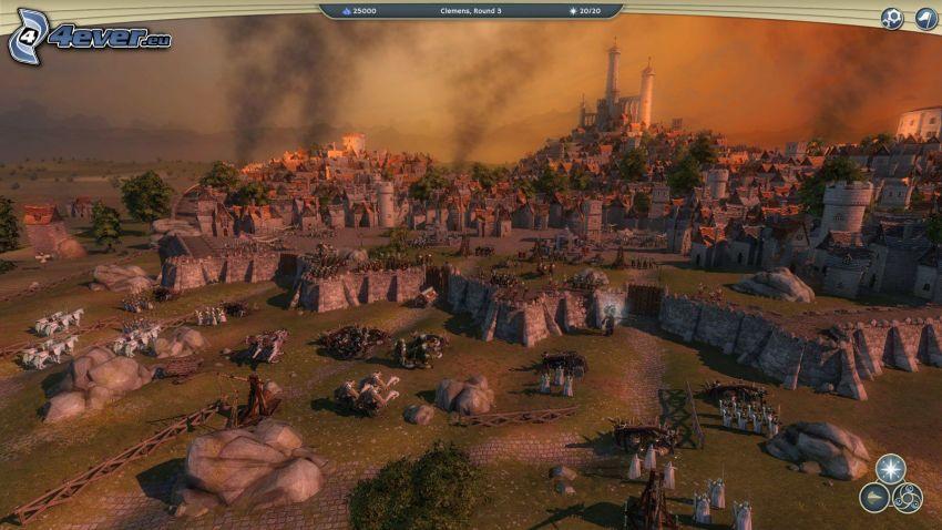 Age of Wonders, sci-fi paesaggio, villaggio