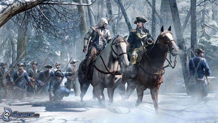 Assassin's Creed 3, cavalli