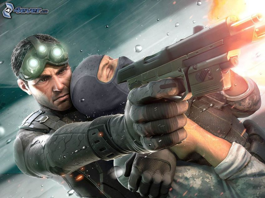 Tom Clancy's Splinter Cell, uomo con un fucile