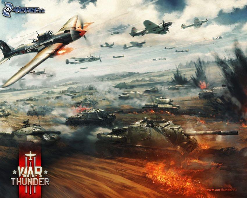War Thunder, carri armati, aerei, lotta