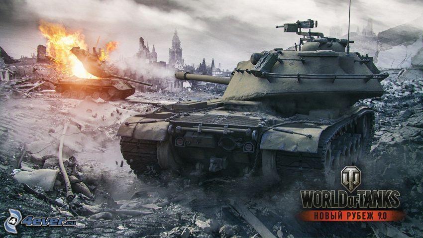 World of Tanks, carri armati, lotta, colpo