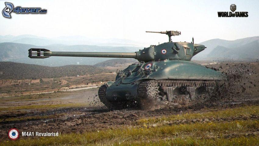 World of Tanks, carro armato, fango