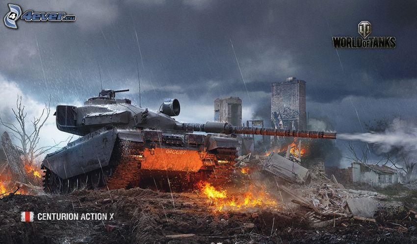 World of Tanks, carro armato, fuoco