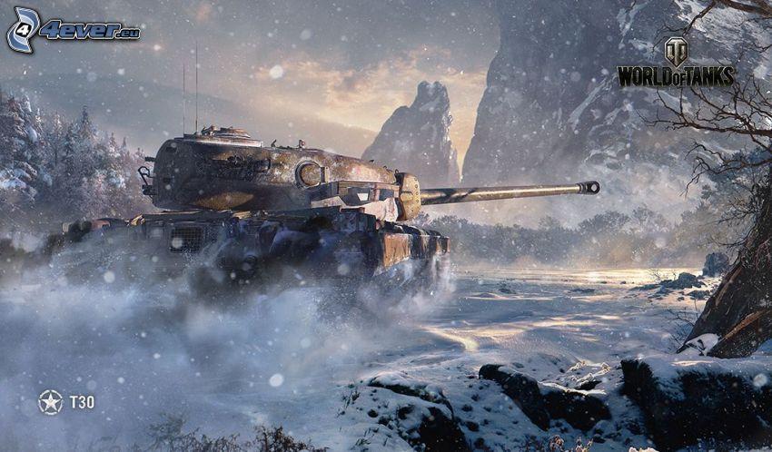 World of Tanks, carro armato, neve