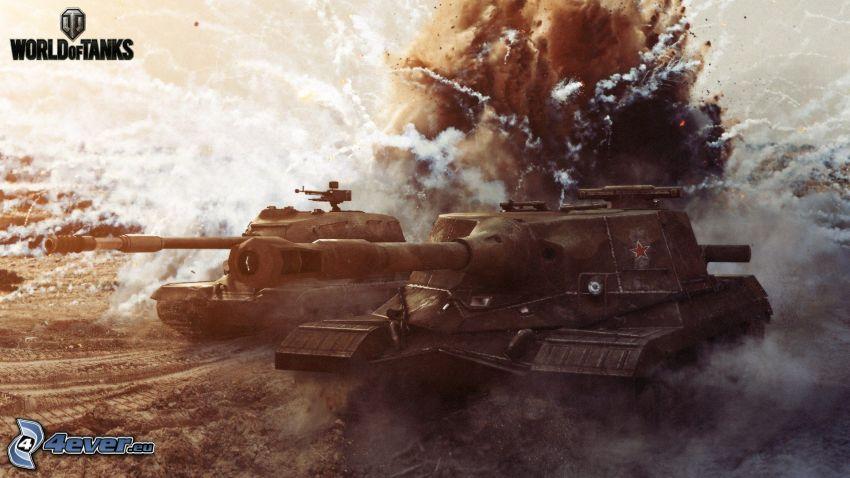 World of Tanks, esplosione