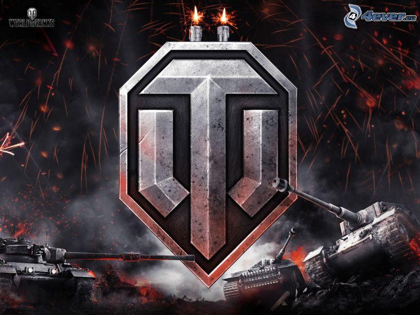 World of Tanks, logo, carri armati