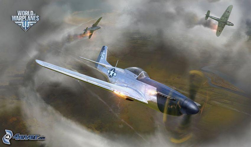 World of warplanes, aerei da caccia