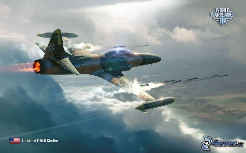 World of warplanes, aereo da caccia, fucileria