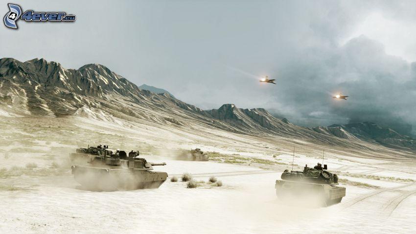 Battlefield 3, carri armati, aerei da caccia