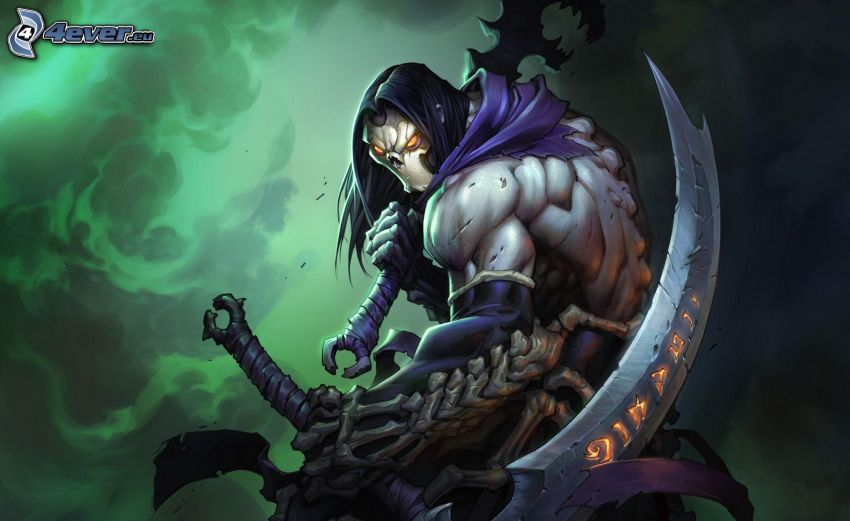 Darksiders II, scuro uomo con la falce