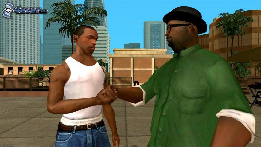 GTA San Andreas, stretta di mano