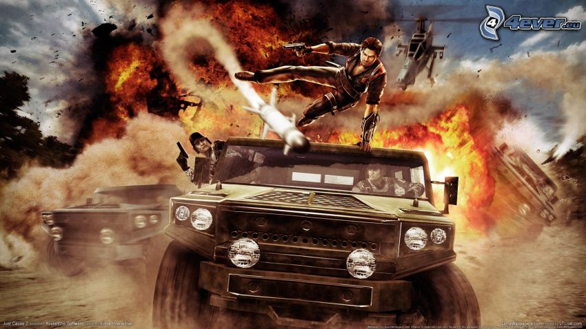Just Cause 2, fuoco