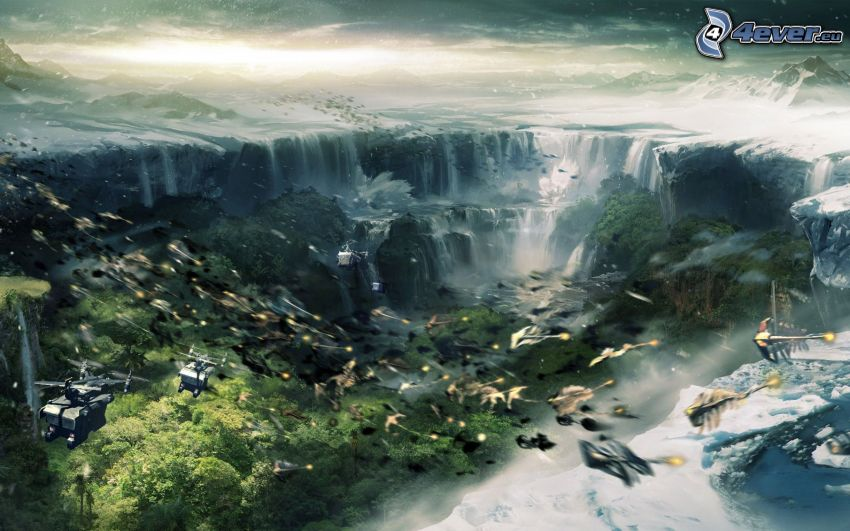Lost Planet 2, cascate