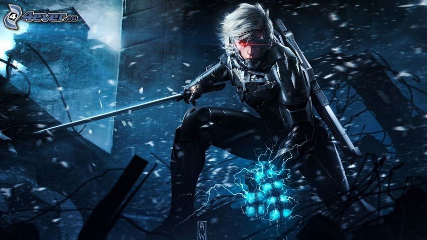 Metal Gear Rising: Revengeance, guerriero, oscurità