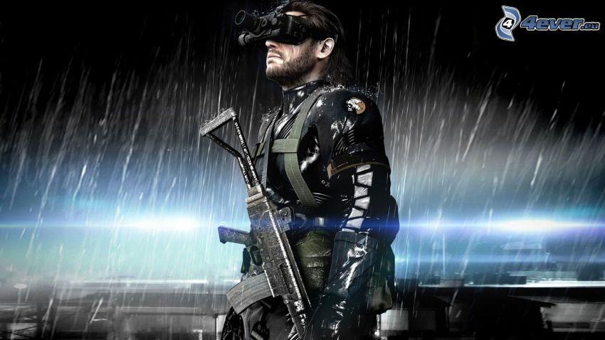 Metal Gear Solid, soldato con una arma