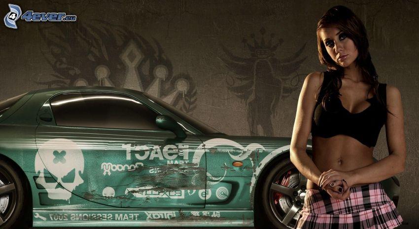 Need For Speed, Dodge Viper, ragazza sexy