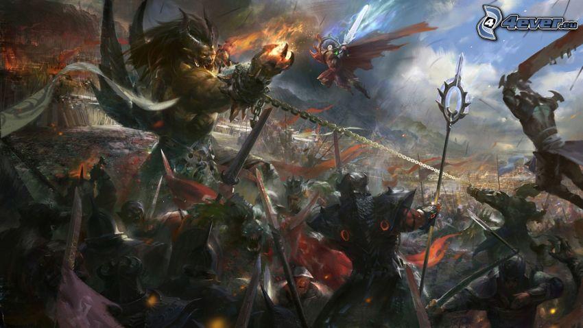 PC gioco, fantasy, battaglia