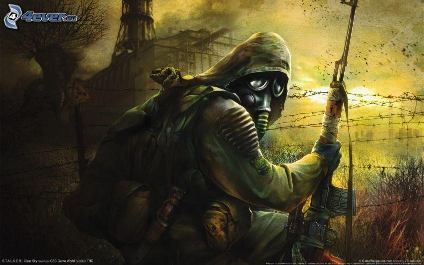 Stalker, l'uomo in maschera antigas