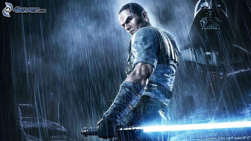 Star Wars: The Force Unleashed 2, spada laser, Darth Vader