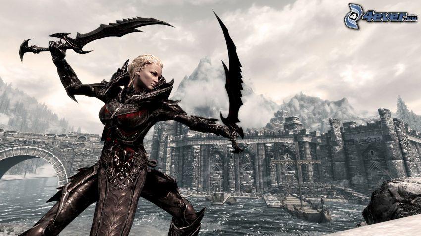 The Elder Scrolls Skyrim, guerriera