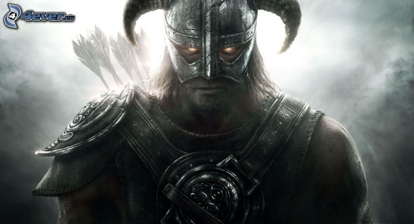 The Elder Scrolls Skyrim, guerriero fantasy