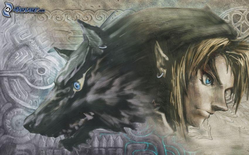 The Legend of Zelda, elf, lupo