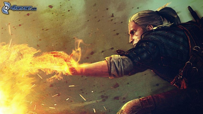The Witcher 2: Assassins of Kings, guerriero, fuoco