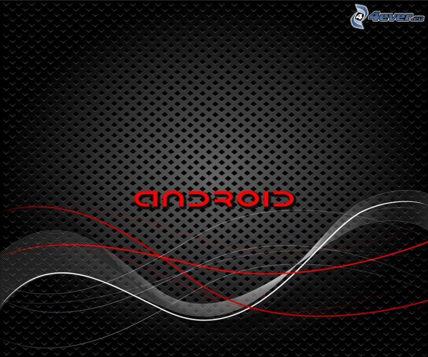 Android, linee, sfondo