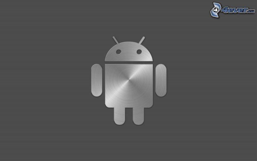 Android, sfondo grigio