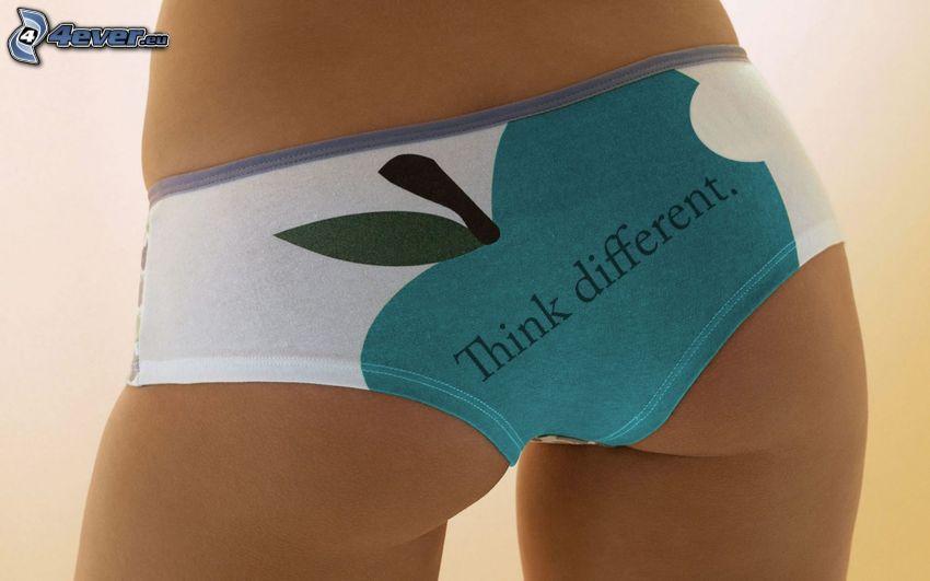 Apple, mutandine, sexy culo