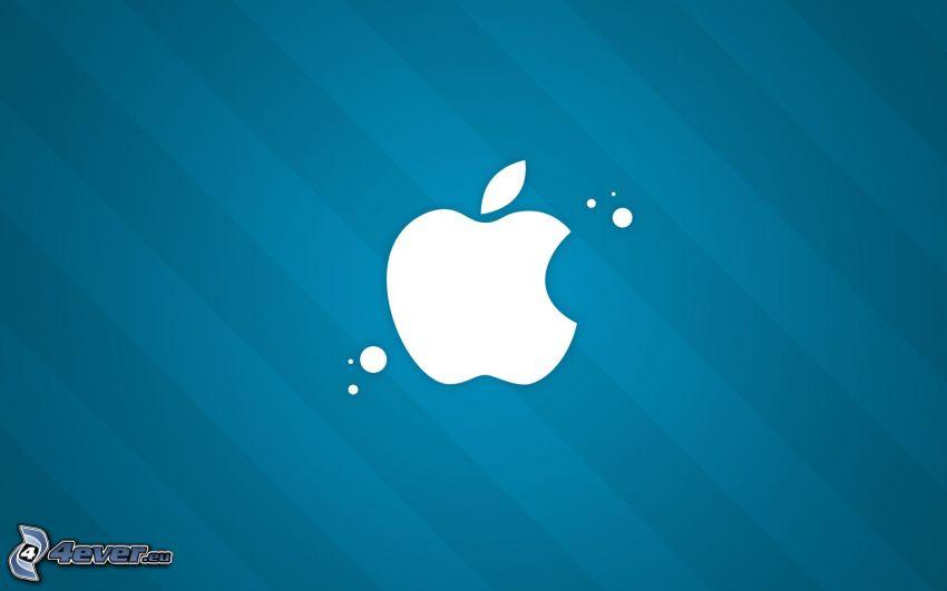 Apple, sfondo blu