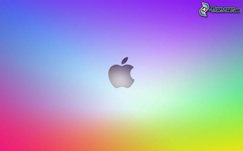 Apple, sfondo colorato