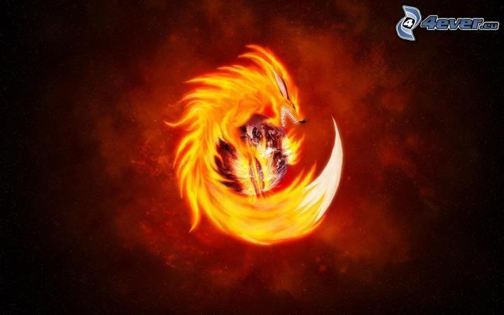 Firefox, lupo, divertente