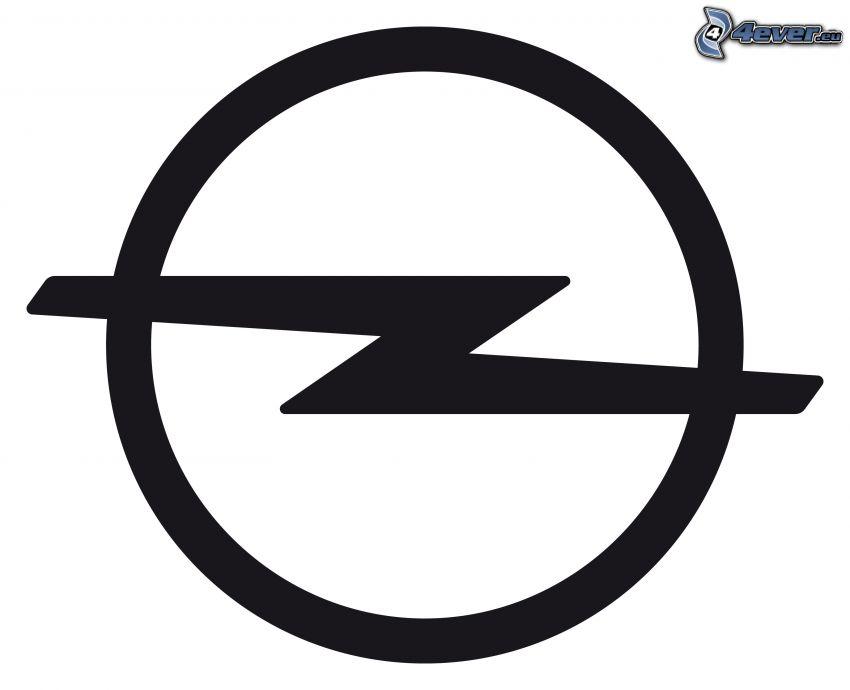 Opel, bianco e nero