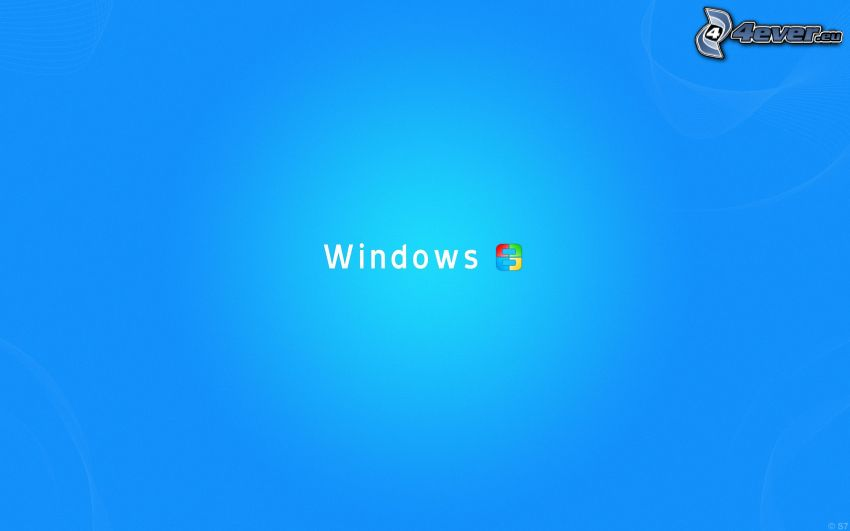 Windows, sfondo blu