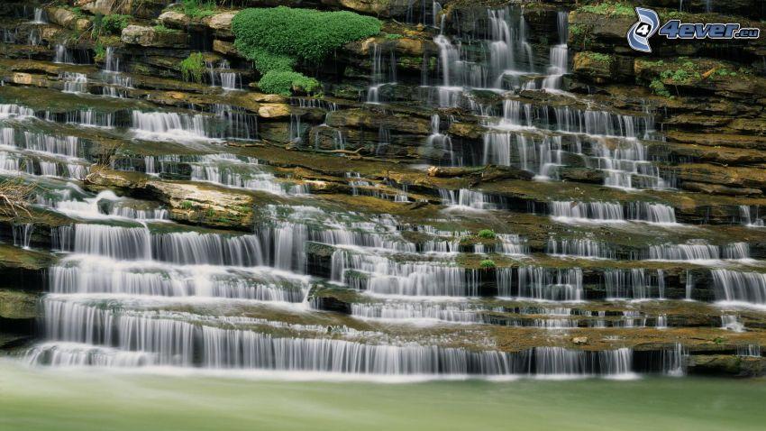 cascata, roccia