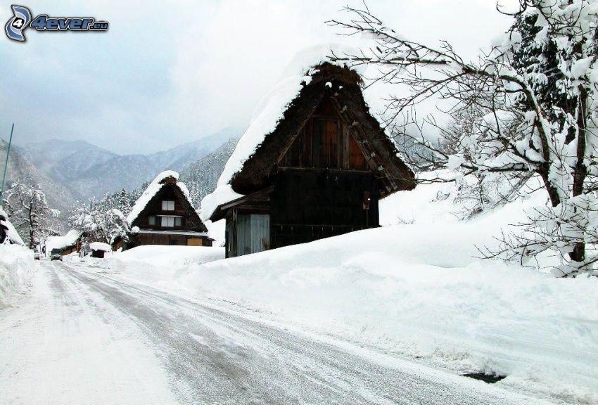 case, strada, neve